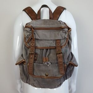 Urban Outfitters Ecote Gray Canvas Backpack